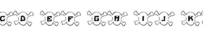 101! Skull &BoneZ Font UPPERCASE