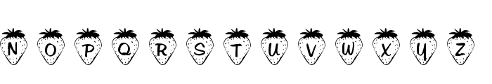 101! Strawberry Delight Font LOWERCASE