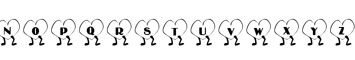 101! Walkin' Heart Font UPPERCASE
