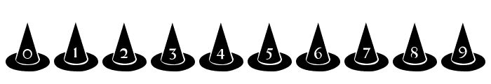 101! Witches Hat Font OTHER CHARS