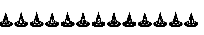 101! Witches Hat Font UPPERCASE