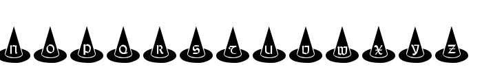 101! Witches Hat Font LOWERCASE