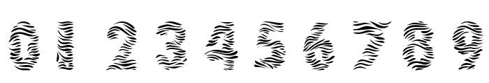 101! Zebra Print Font OTHER CHARS