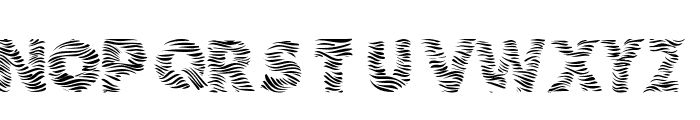 101! Zebra Print Font UPPERCASE