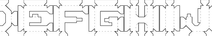 1:4 Font LOWERCASE