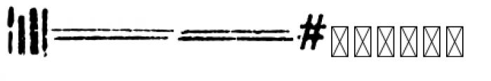 112 Hours Timestamp Font UPPERCASE