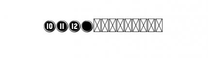 112 Hours Keystroke Font UPPERCASE