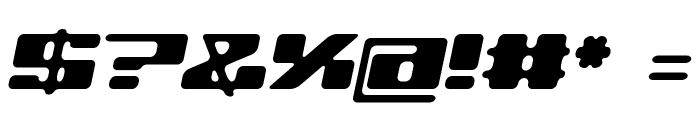 120000volt Oblique Font OTHER CHARS