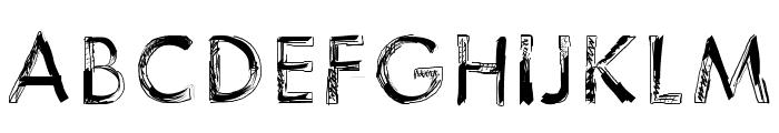 123Sketch Font UPPERCASE