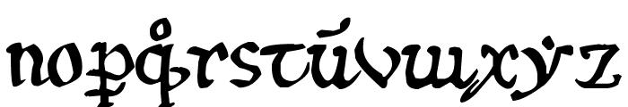 12th c. Abbey Font LOWERCASE