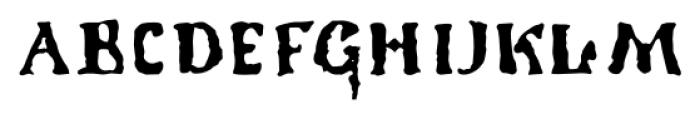 1350 Primitive Russian Regular Font UPPERCASE