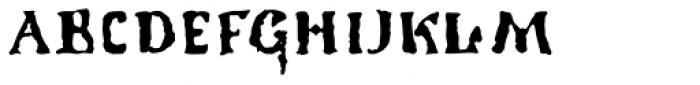 1350 Primitive Russian Font UPPERCASE