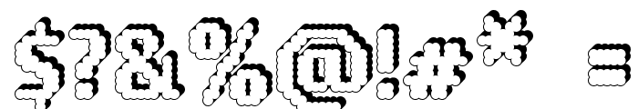 14 LED Rised Black Font OTHER CHARS