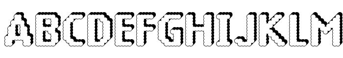 14 LED Rised Black Font UPPERCASE