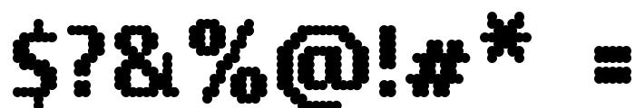14 LED Font OTHER CHARS