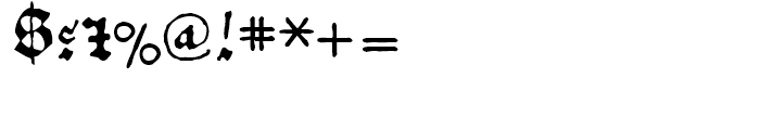 1456 Gutenberg B42 Regular Font OTHER CHARS