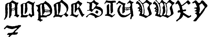 1456 Gutenberg B42 Regular Font UPPERCASE