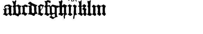 1456 Gutenberg B42 Regular Font LOWERCASE