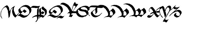 1475 Bastarde Manual Normal Font UPPERCASE