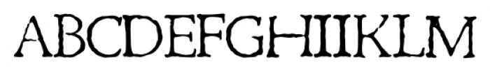 1470 Jenson Latin Normal Font UPPERCASE