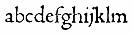 1470 Jenson Latin Normal Font LOWERCASE