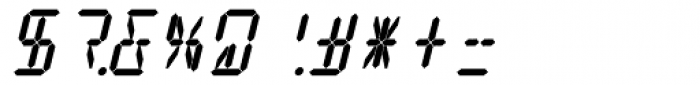 14 Segment LED Display Bold Italic Font OTHER CHARS