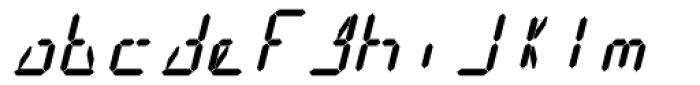 14 Segment LED Display Bold Italic Font LOWERCASE