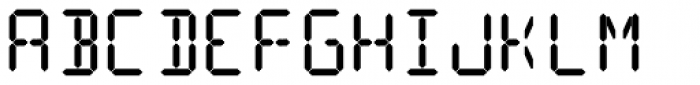 14 Segment LED Display Bold Font UPPERCASE