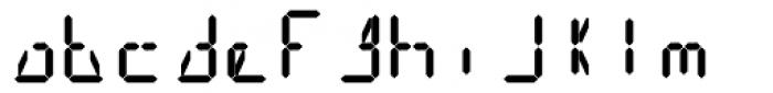 14 Segment LED Display Bold Font LOWERCASE