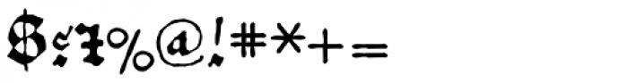 1456 Gutenberg B42 Pro Font OTHER CHARS