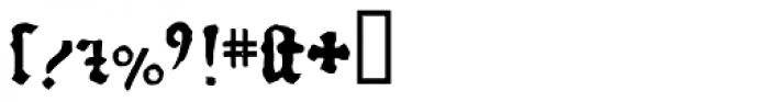 1456 Gutenberg Bold Font OTHER CHARS