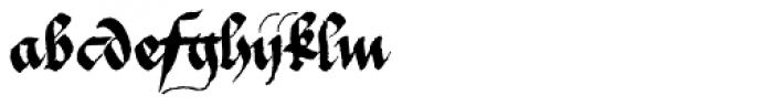 1475 Bastarde Manual Normal Font LOWERCASE