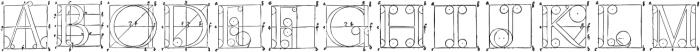 1525 Durer initials otf (400) Font UPPERCASE