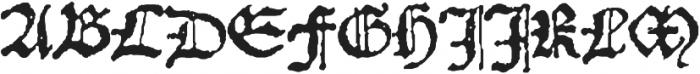 1532 Bastarde Lyon otf (400) Font UPPERCASE