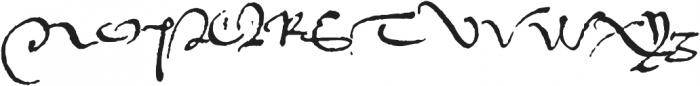 1536 Civilite Manual otf (400) Font UPPERCASE