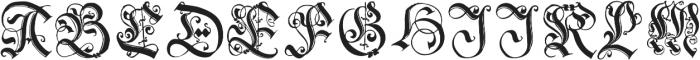 1543 German Deluxe Initials otf (400) Font UPPERCASE