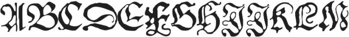 1543 German Deluxe otf (400) Font UPPERCASE