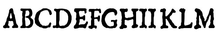 1550 Font UPPERCASE