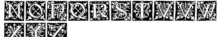 1512 Initials Normal Font UPPERCASE