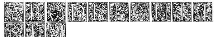 1523 Holbein Regular Font UPPERCASE
