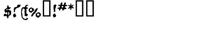 1534 Fraktur Normal Font OTHER CHARS