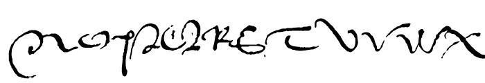 1536 Civilite Manual Font UPPERCASE