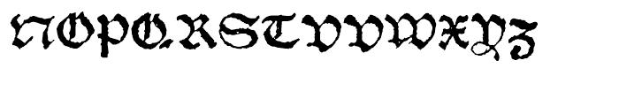 1538 Schwabacher Normal Font UPPERCASE