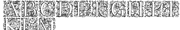 1584 Rinceau Normal Font UPPERCASE