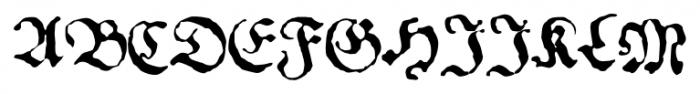 1534 Fraktur Normal Font UPPERCASE