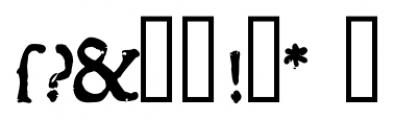 1543 Humane Jenson Bold Font OTHER CHARS