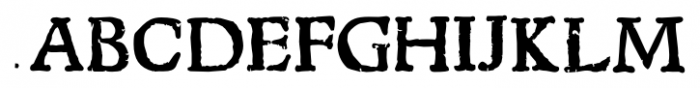 1543 Humane Jenson Bold Font UPPERCASE
