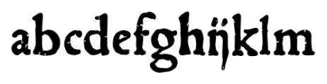 1543 Humane Jenson Bold Font LOWERCASE