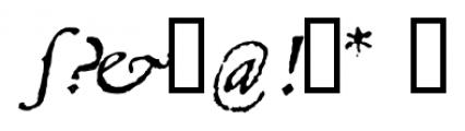 1543 Humane Jenson Italic Font OTHER CHARS