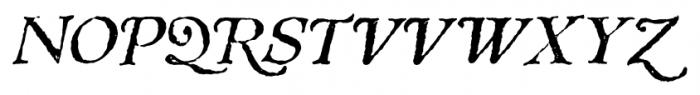 1543 Humane Jenson Italic Font UPPERCASE